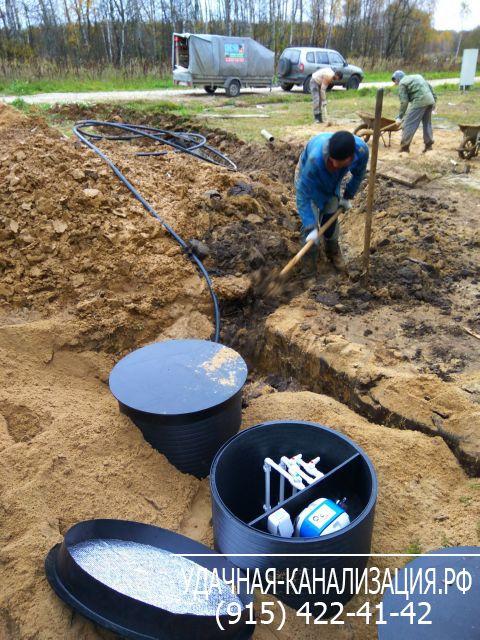 Устройство канализации на даче видео